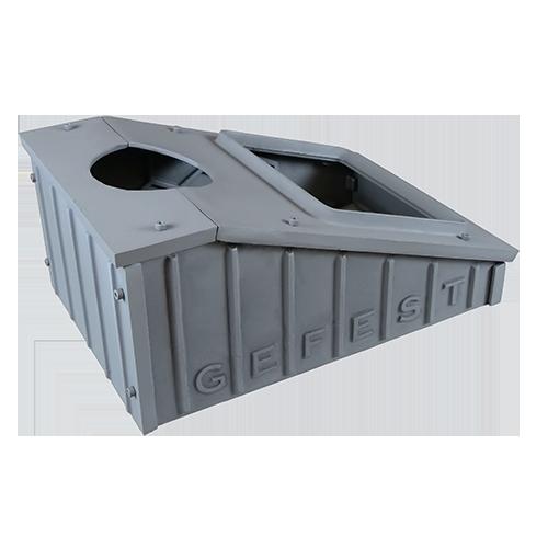 Pig-iron box the President 850 for the furnace Hephaestus PB-04 ZK