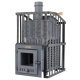 The pig-iron bathing furnace Hephaestus ZK 18 Uragan (M)