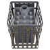 Cast-iron bath stove Thunder-storm 18 (M) in a grid