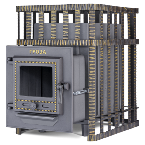 Cast-iron bath stove Thunder-storm 24 (M) in a grid