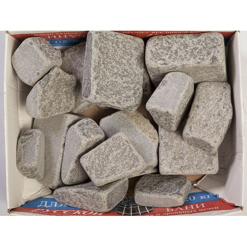 Stones for a bath Talcochlorite obvalovanny (a box of 20 kg)