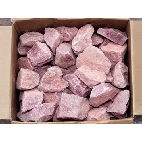 Stones for bath Raspberry quartzite sloping (carton 20 kg)
