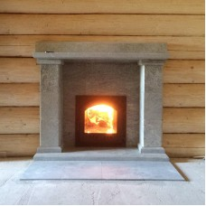 Portal for a bath stove from Talcochlorite