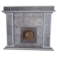 Portal for a bath stove from Talcomagnesite