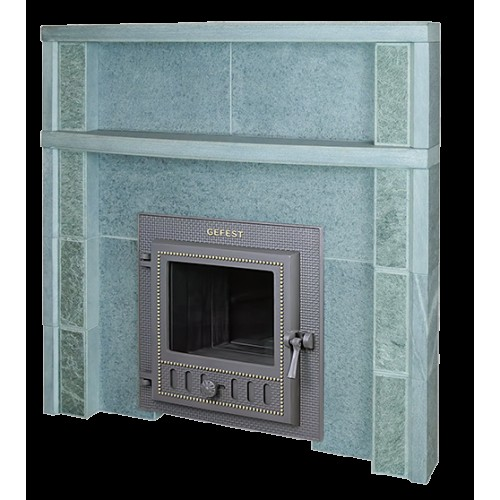 Portal for a bath stove from Talcochlorite 960