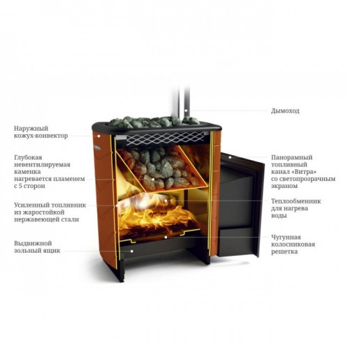 Stove for a bath Tunguska XXL 2013 Inox CSN anthracite